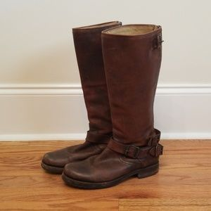 Women's Tall Frye 4001 H 14 Riding Boots Size 7.5